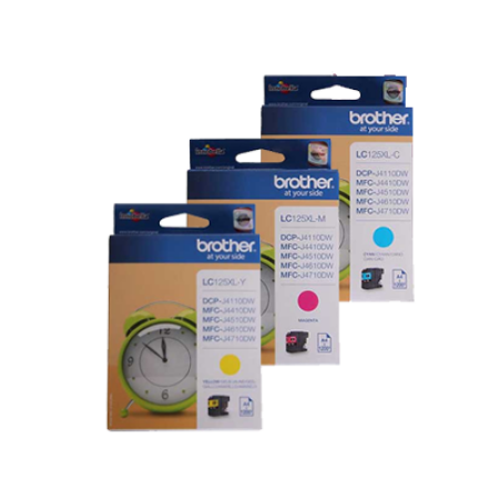 Brother LC125XL Ink Cartridge Colour Multipack C/M/Y Original