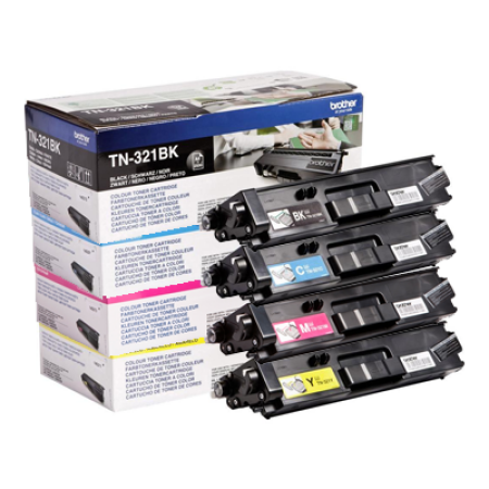 Brother TN-321 Toner Cartridge Bundle Pack - 4 Toners
