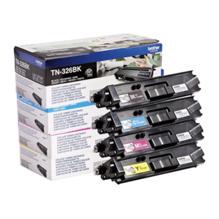 Brother TN-326 High Capacity Toner Cartridge Bundle Pack - 4 Toners