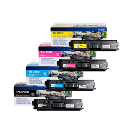 Brother TN-329 Extra High Capacity Toner Cartridge Bundle Pack - 4 Toners