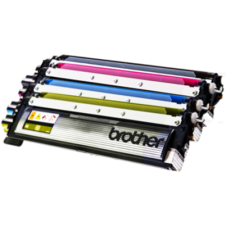 Brother TN135 High Capacity Toner Cartridge Pack - 4 Toners