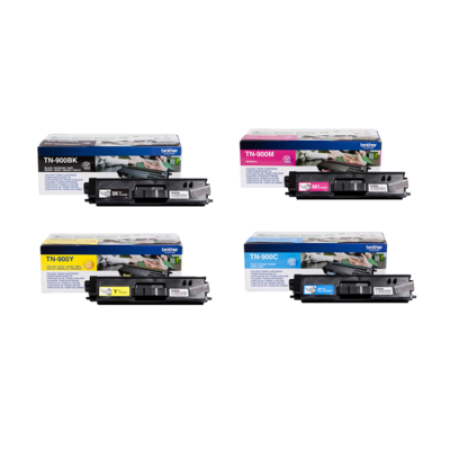 Brother TN900 Toner Cartridge Bundle Pack - 4 Toners