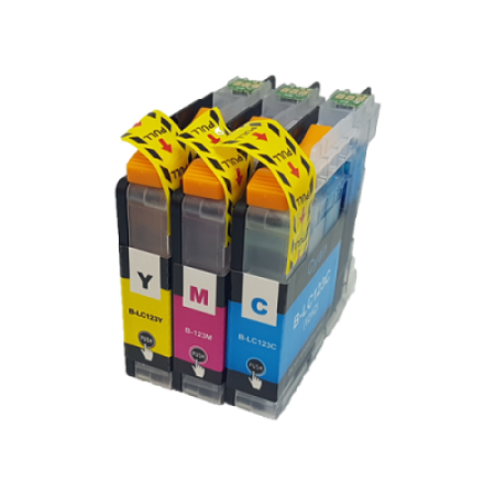 Compatible Brother LC123 Ink Cartridge Colour Triple Pack C/M/Y