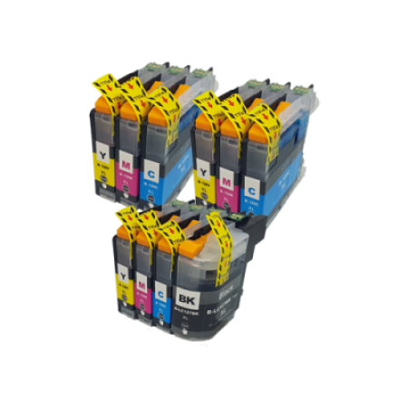 Compatible Brother LC127XL/LC125XL Ink Cartridge Colour Mixed Multipack - 10 Inks
