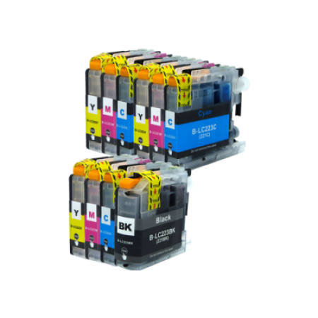 Compatible Brother LC223 Ink Cartridge Colour Mixed Multipack - 10 Inks