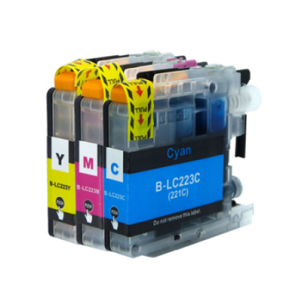 Compatible Brother LC223 Ink Cartridge Colour Multipack C/M/Y