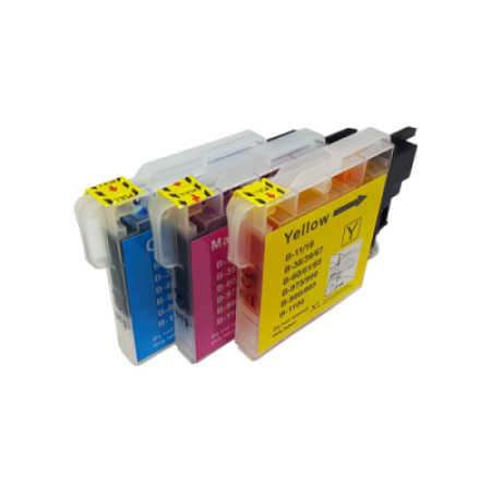 Compatible Brother LC980 Ink Cartridge Colour Multipack C/M/Y
