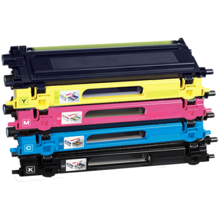 Compatible Brother TN135 HC Toner Cartridge Pack - 4 Toners