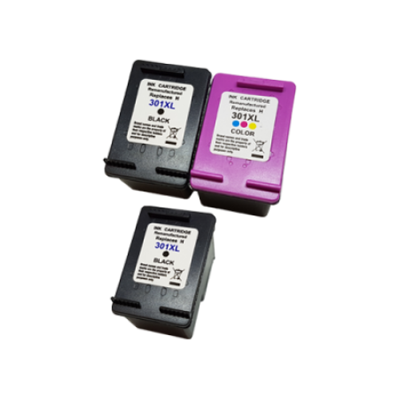 Compatible HP 301XL Black x2 + Colour x1 Ink Cartridge Triple Pack BK/C/M/Y