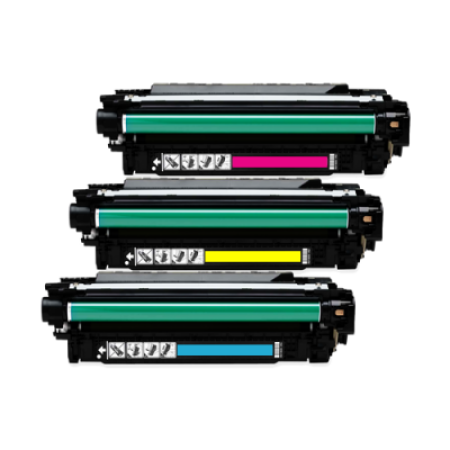 Compatible HP 504A Toner Cartridges Colour Park - 3 Toners