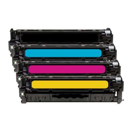 Compatible HP 650A CE27 Toner Cartridge Multipack - 4 Toners