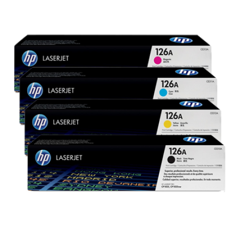 HP 126A CE310A Original Toner Cartridge Multipack BK/C/M/Y