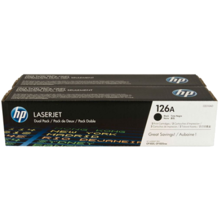 HP 126A CE310AD Black Original Toner Cartridge Twin Multipack