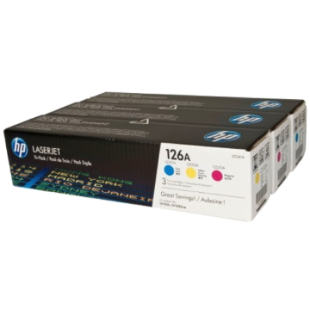 HP 126A CE311A CE312A CE313A Original Toner Cartridge Colour Multipack C/M/Y