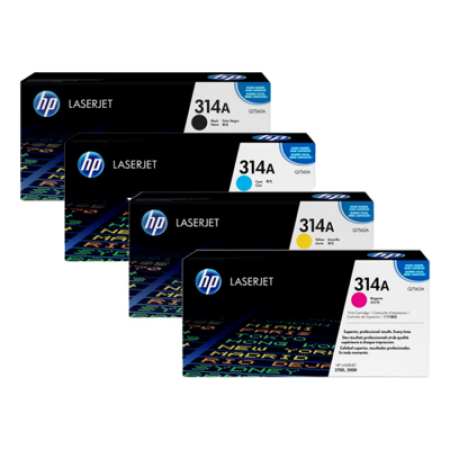 HP 314A Q756A Series Toner Cartridge Multipack 4 Toners