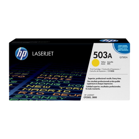 HP 503A Q7582A Yellow Toner Cartridge