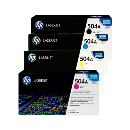 HP 504A CE250A Toner Cartridge Multipack - 4 Toners
