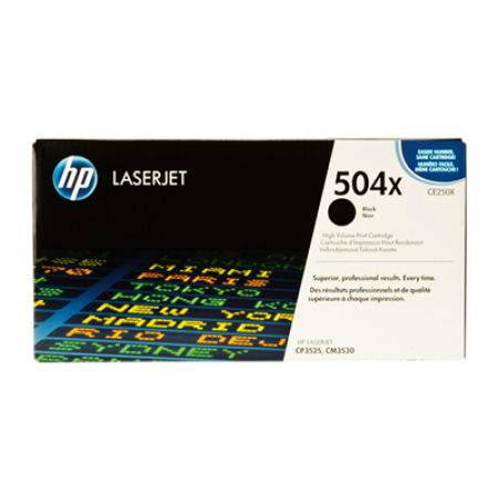 HP 504X CE250X Black High Capacity Toner Cartridge