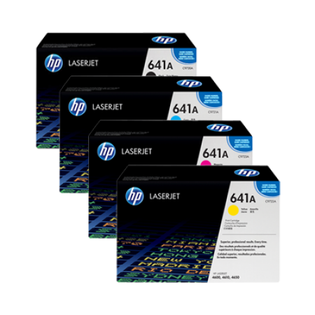 HP 641A C9720A Toner Cartridge Multipack - 4 Toners