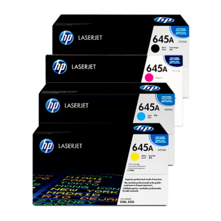 HP 645A C9730A Toner Cartridge Multipack - 4 Toners