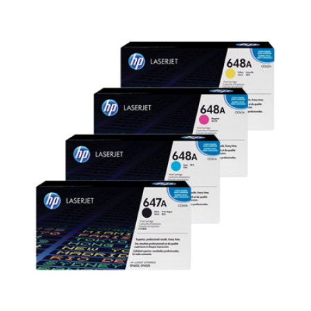 HP 647A CE260/1/2/3A Toner Cartridge Multipack BK/C/M/Y Original