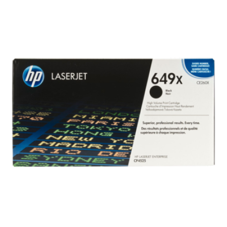 HP 649X CE260X Toner Cartridge Black High Capacity Original