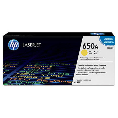HP 650A CE272A Yellow Toner Cartridge