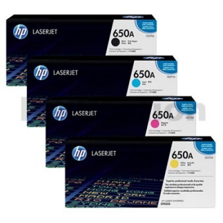 HP 650A Toner Cartridge Multipack - 4 Toners