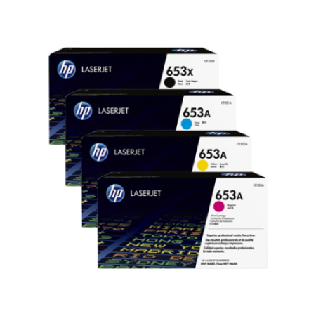 HP 653X/A Toner Cartridge Multipack - 4 Toners