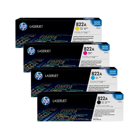 HP 822A C8550A Toner Cartridge Multipack - 4 Toners