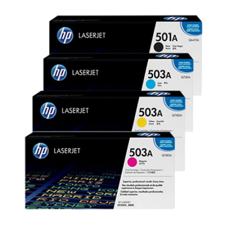 HP Q6470A / Q7581A Toner Cartridge Multipack - 4 Toners