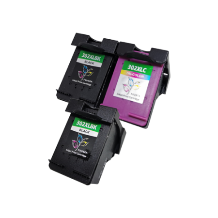 Compatible HP 302XL Black x2 + Colour x1 Ink Cartridge Multipack BK/C/M/Y