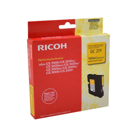 Ricoh 405535 Gel Ink Cartridge Yellow Original