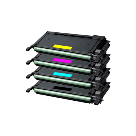 Samsung CLP-660B High Capacity Toner Cartridge Pack - 4 Toners