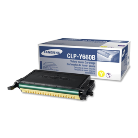 Samsung CLP-Y660B High Capacity Yellow Toner Cartridge